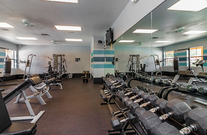 Free Weights at Maverick Creek Apartments