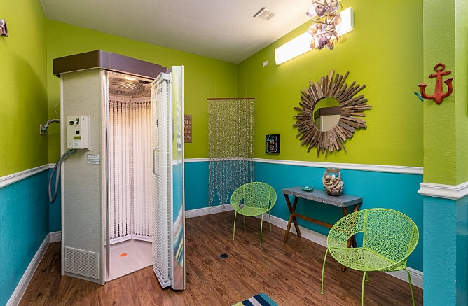 Tanning Booth Available at Maverick Creek Apartments